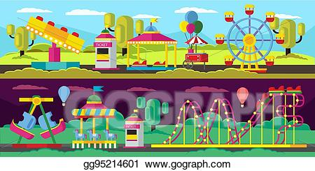 clip library library Booth clipart roller coaster. Vector art amusement park