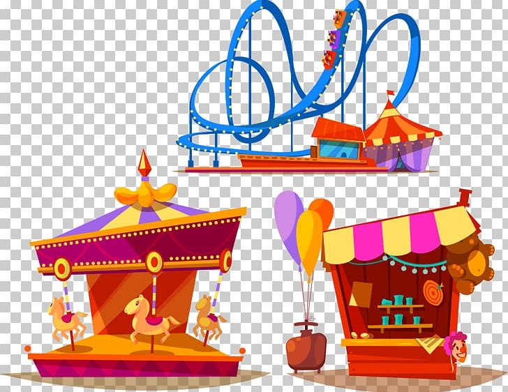 clip art black and white stock Amusement park carousel png. Booth clipart roller coaster