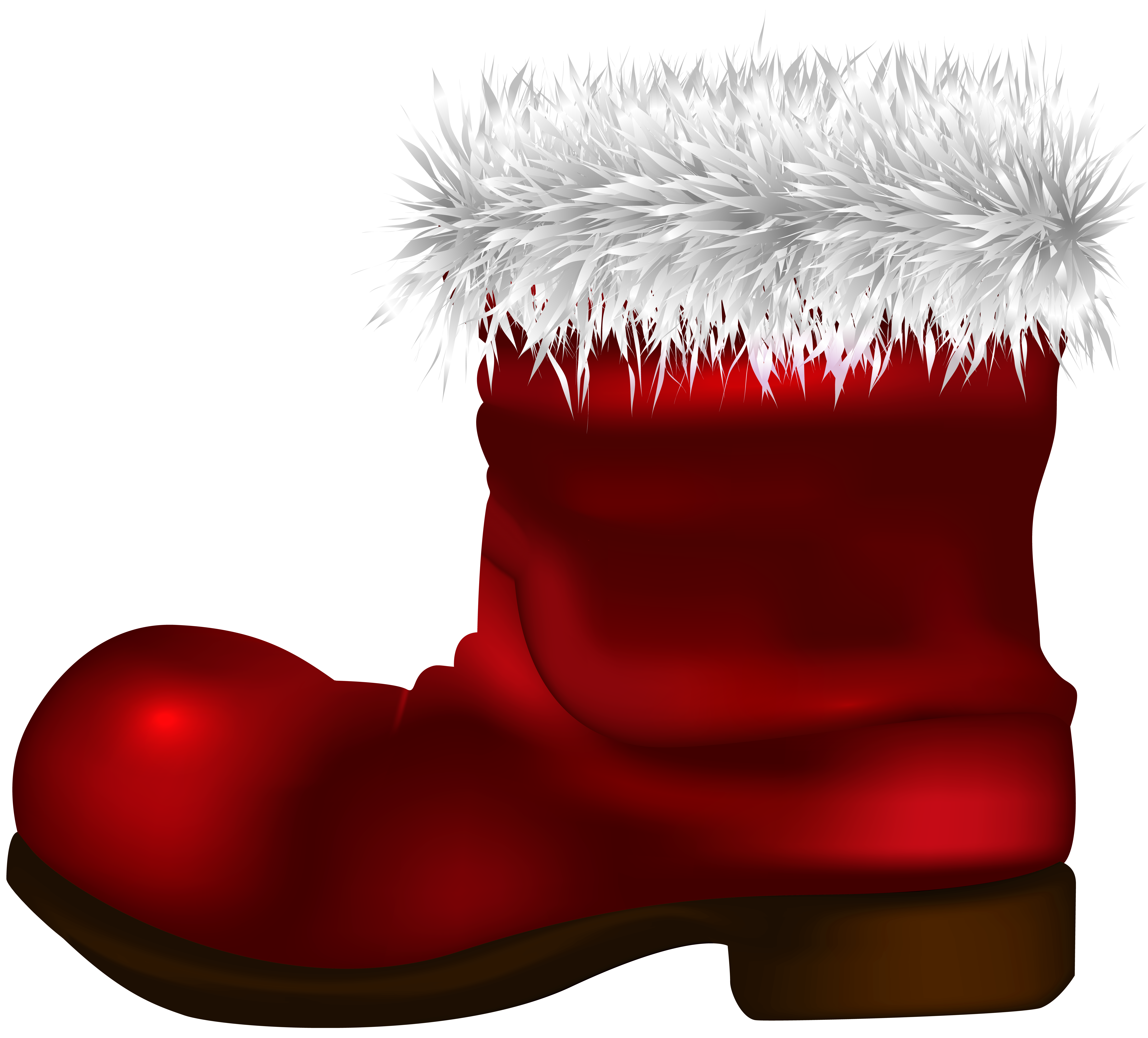 svg royalty free library Good looking santa claus. Boot clipart spring.