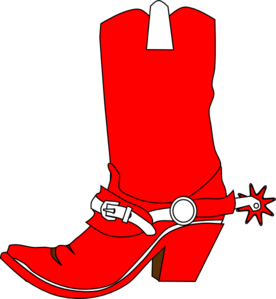 graphic free stock Boots clipart christmas. A cowboy boot clip