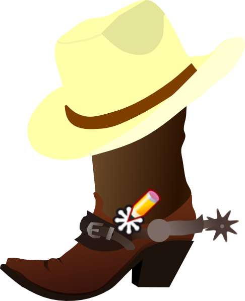 clip art transparent download Boots clipart country boot. Cowboy hat and clip