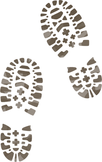 clip art black and white library Muddy boot print tattoos. Boots clipart footprint