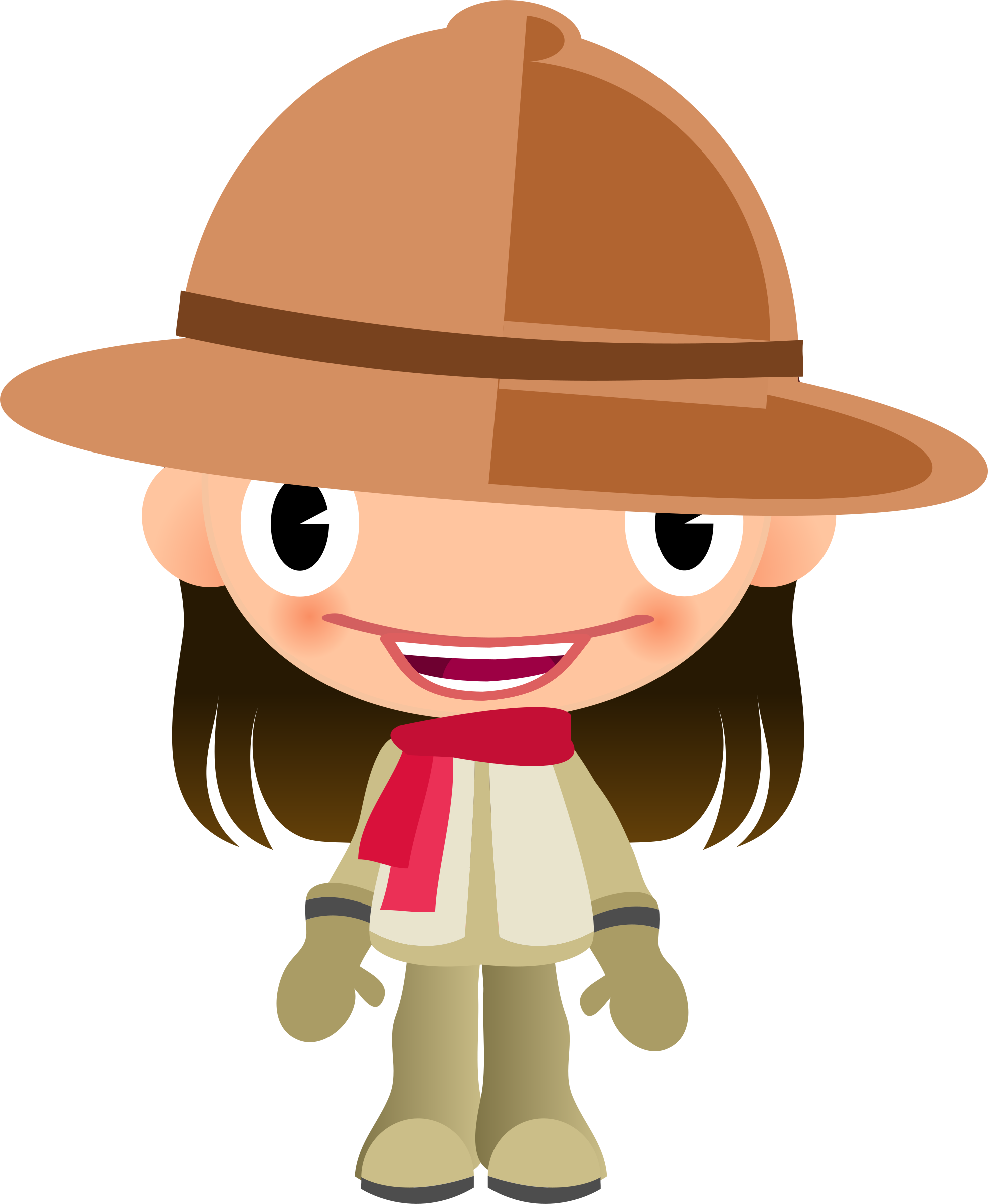 clip royalty free stock Talking girl in clothes. Boots clipart safari