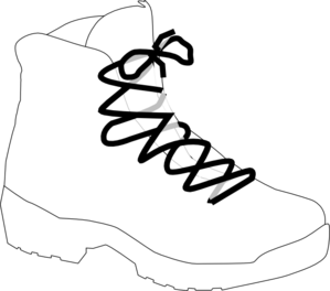 svg black and white stock White Boot Clip Art at Clker