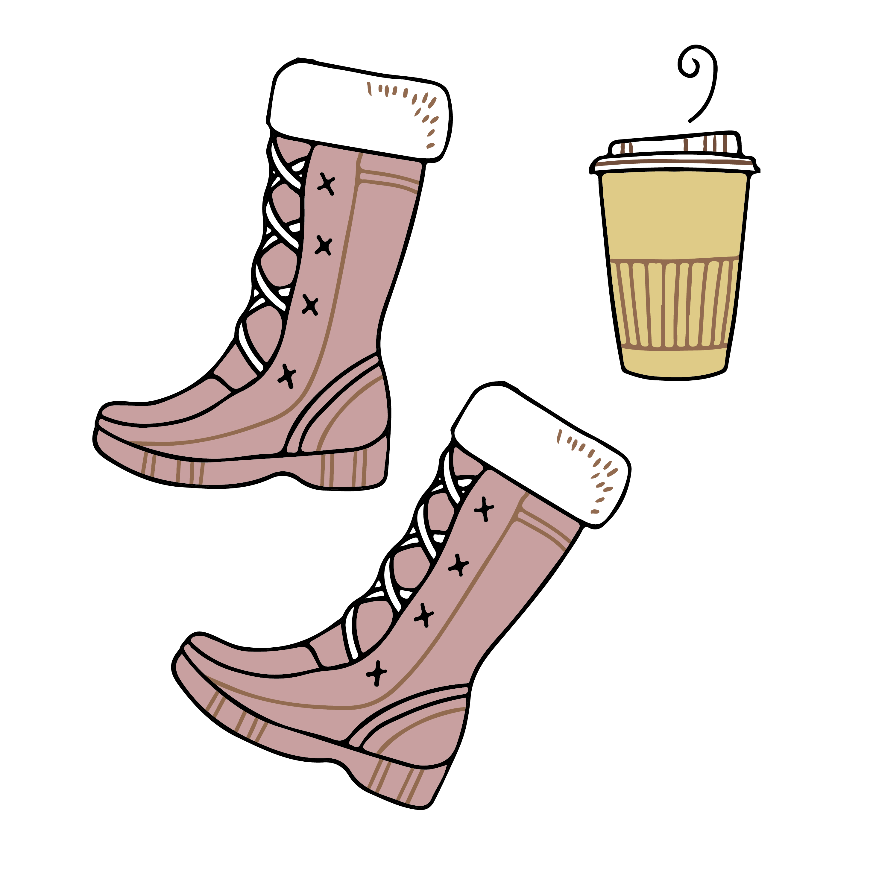 clip art freeuse library Shoe Boot Clothing Winter