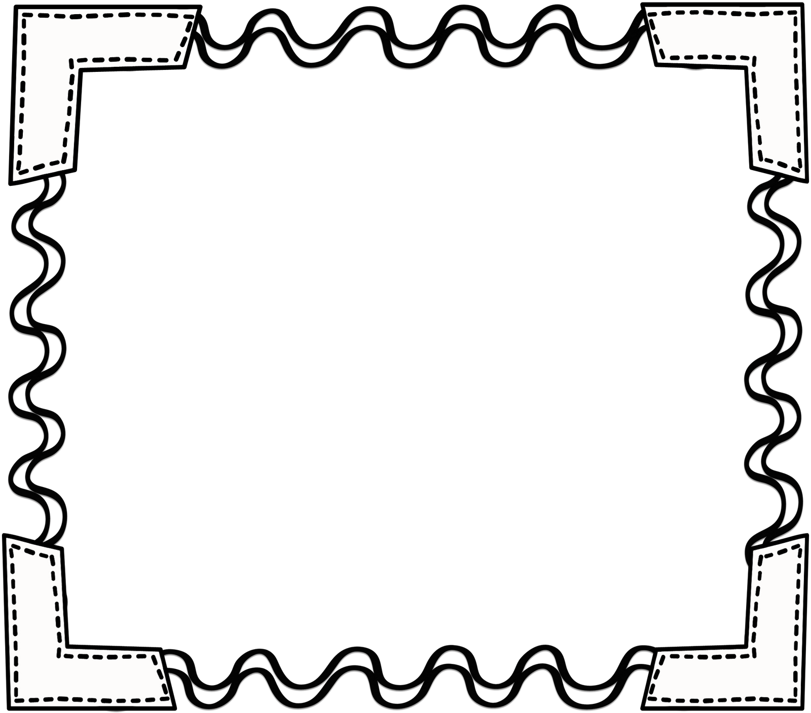 png free download  collection of borders. Black and white school clipart
