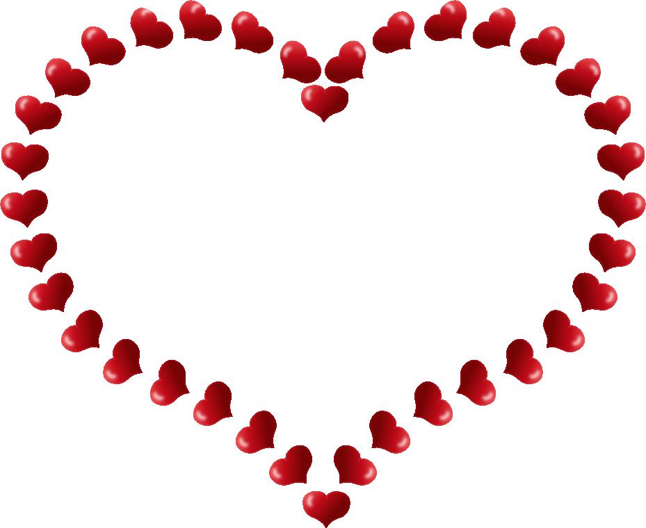 banner Valentine clip art heart. Border clipart candy