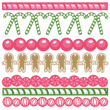 graphic library download Large christmas png clip. Border clipart candy