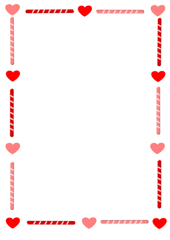 clipart library download Clipart hearts borders. Heart and candy border
