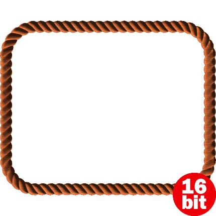 clipart black and white Rope Border Clipart