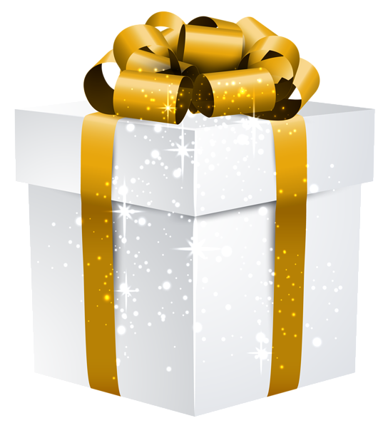 download Border clipart gift. White shining box with