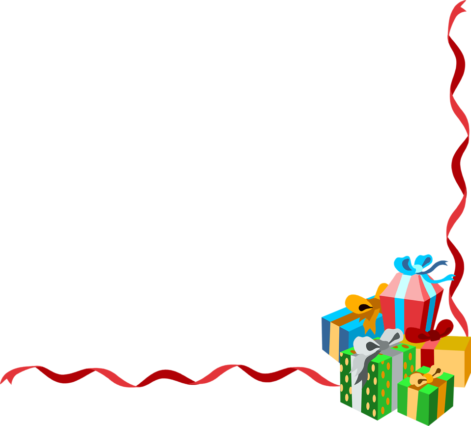 clip art stock Border clipart gift.  collection of christmas