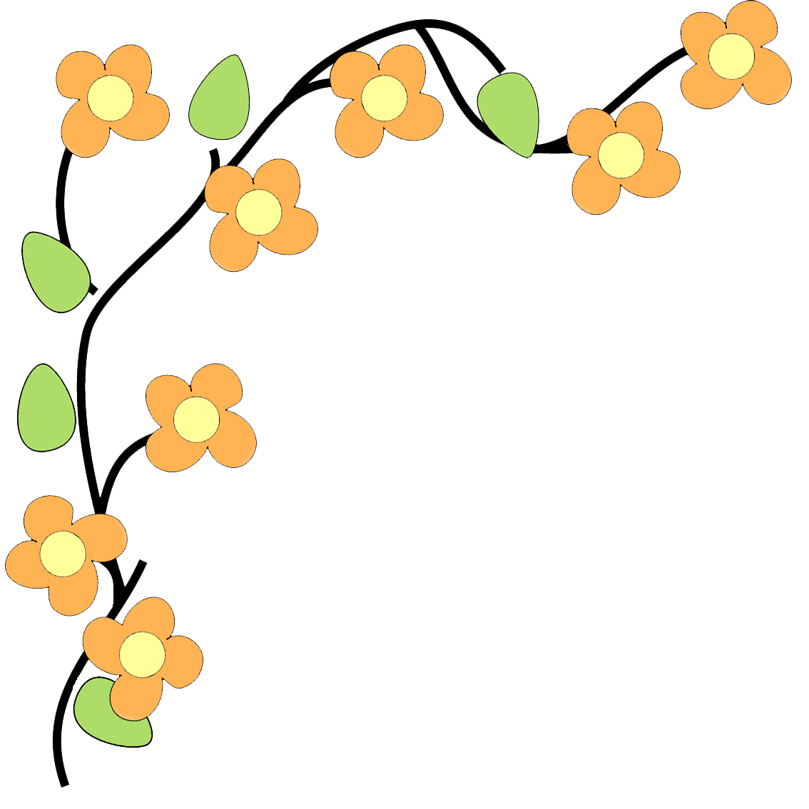 image transparent Flower border kid flowers. Fall borders clipart.