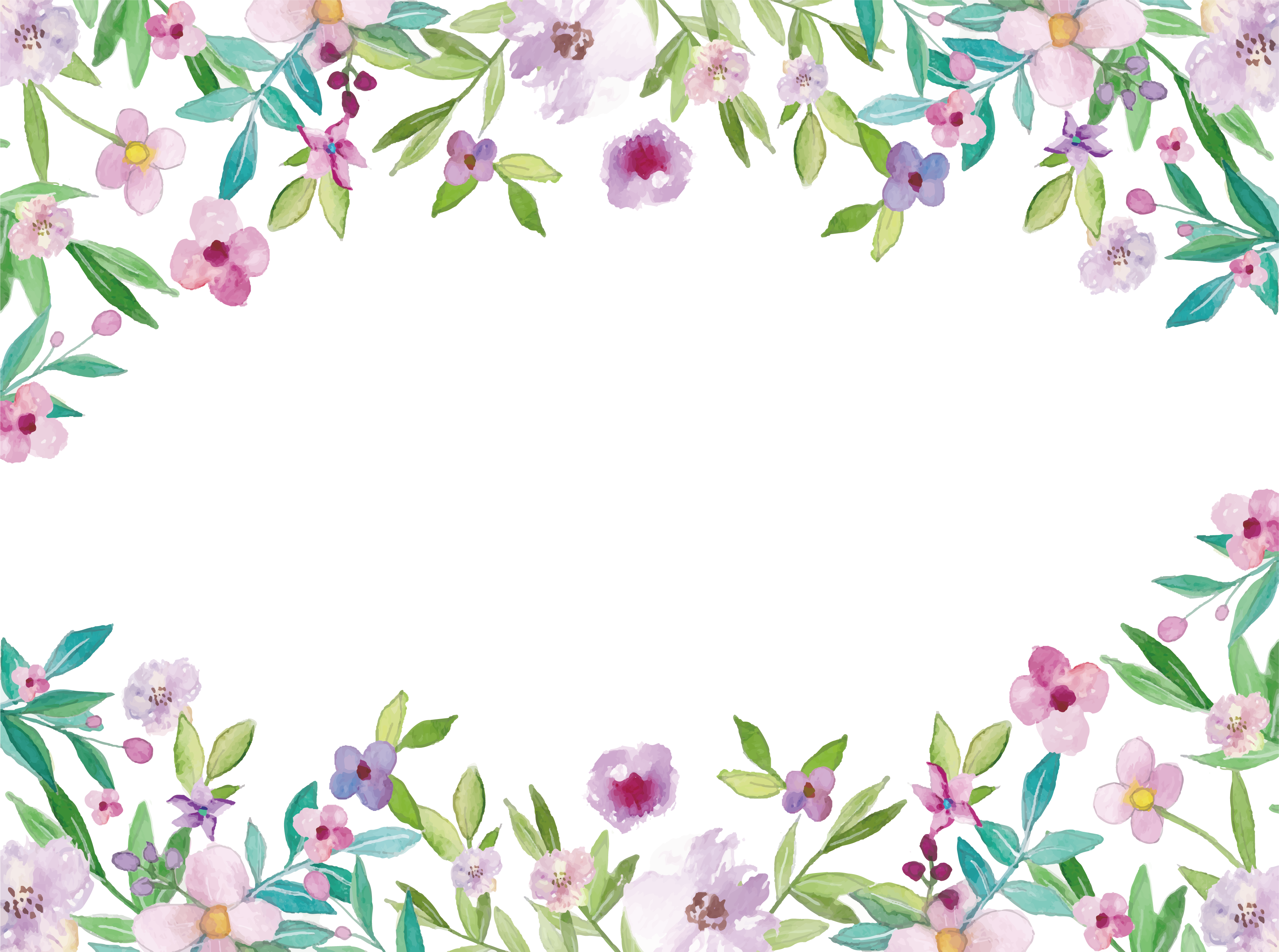 royalty free Border clipart watercolor. Painting clip art flowers