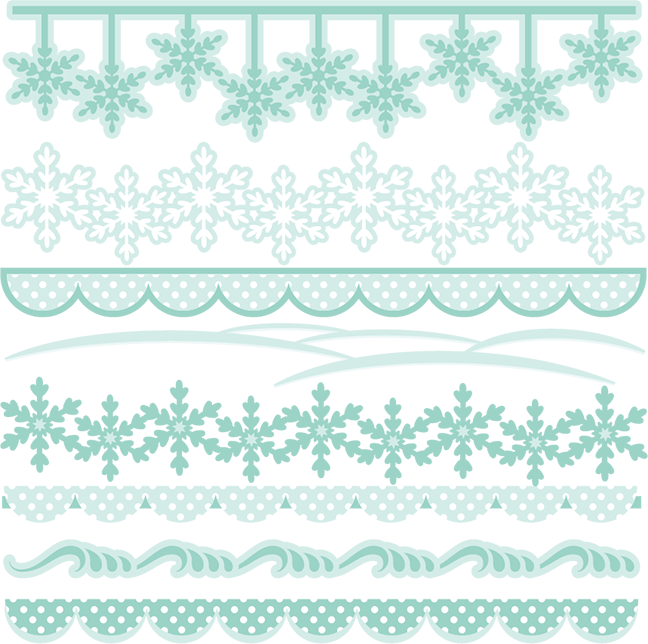 vector black and white download Svg cutting files cuts. Winter borders clipart