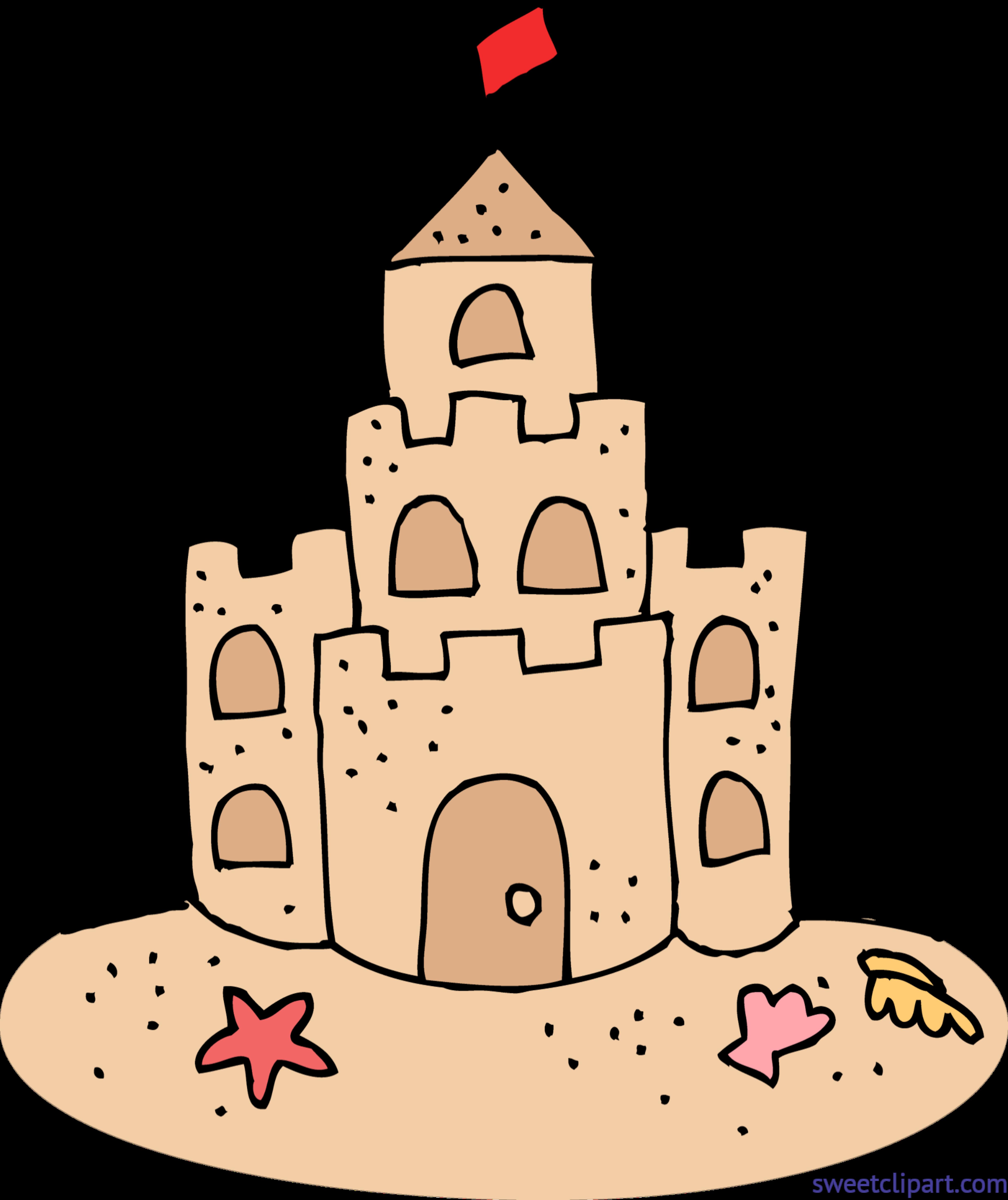 banner black and white stock Borders clipart castle. Cute sand clip art.