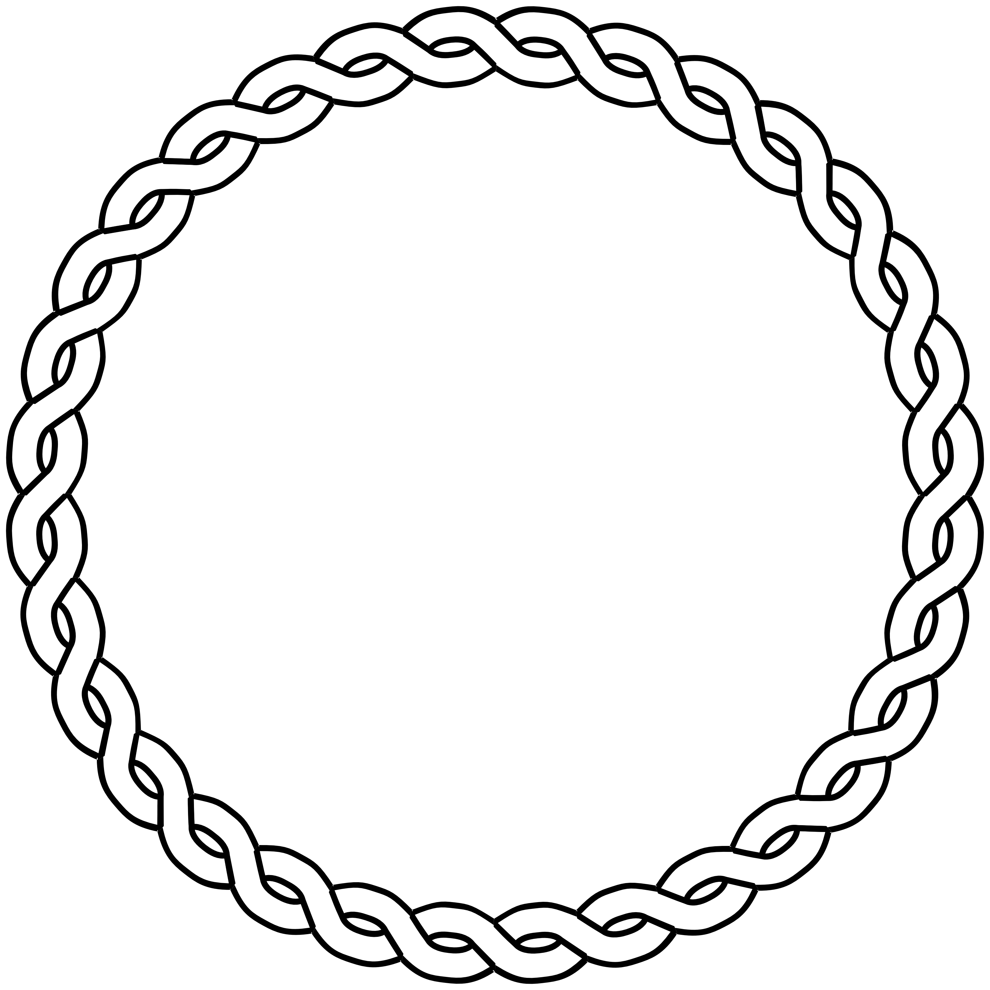 clip black and white library Border circle black white. Drawing rope pencil