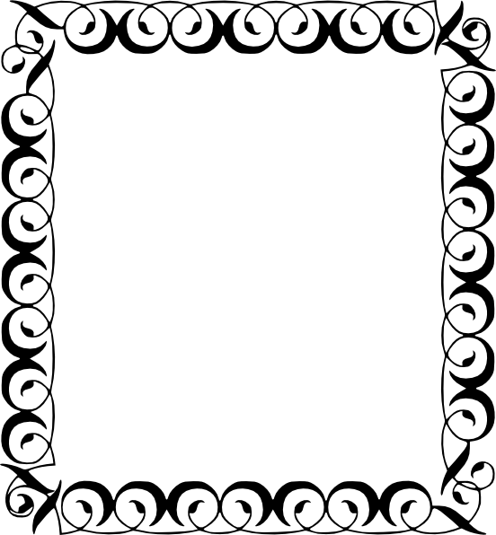 clip black and white download Black Star Border Clip Art
