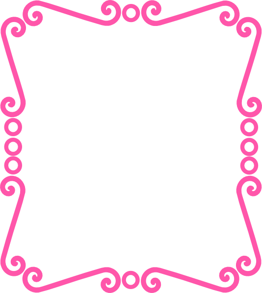 svg transparent Borders clipart curly. Scrolly frame pink clip