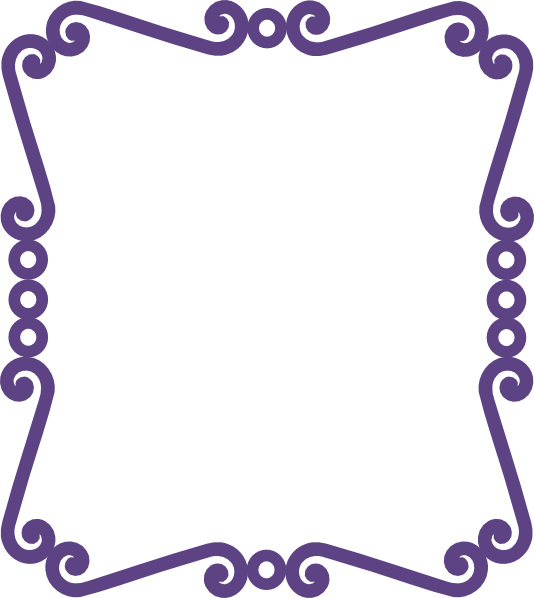 png freeuse stock Borders clipart curly. Scrolly frame new purple