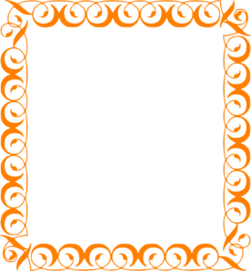 banner black and white stock Orange elegant border clip. Borders clipart curly