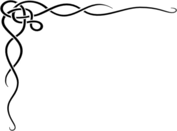 black and white stock Frame clip art at. Borders clipart curly