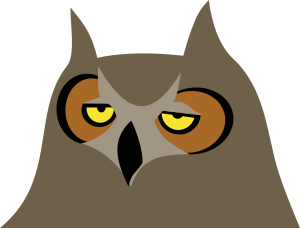 transparent library Owl small image png. Bored clipart