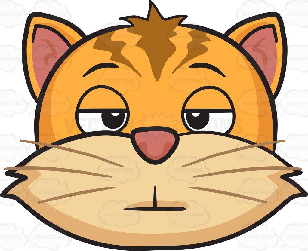 clipart transparent stock A cartoon vector vectortoons. Bored clipart cat.