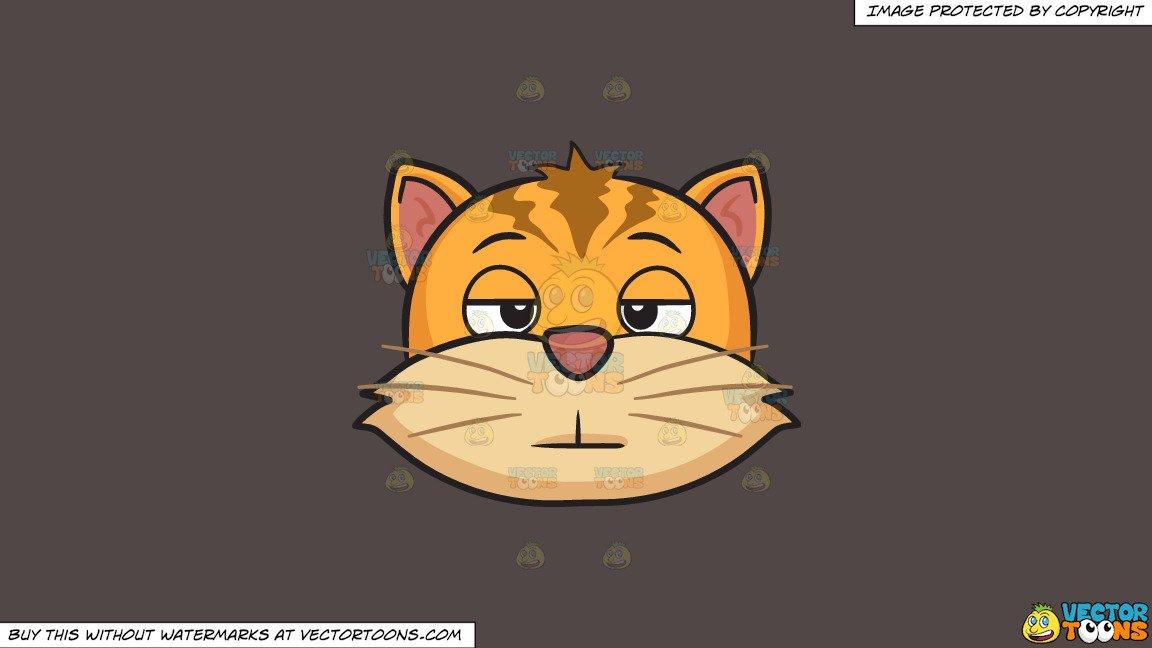 clipart stock Bored clipart cat. A on solid quartz.