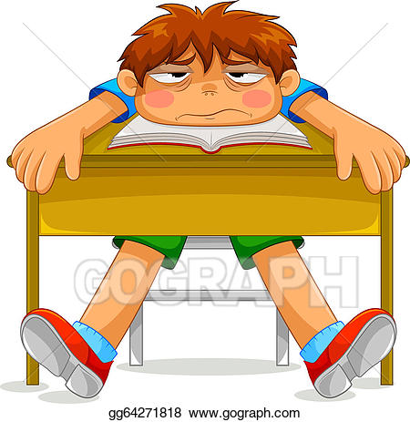 banner royalty free Bored clipart misery. Vector stock miserable student