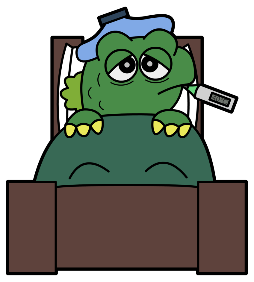 vector library download Bored clipart sick student. Sickzilla by aboringguy on