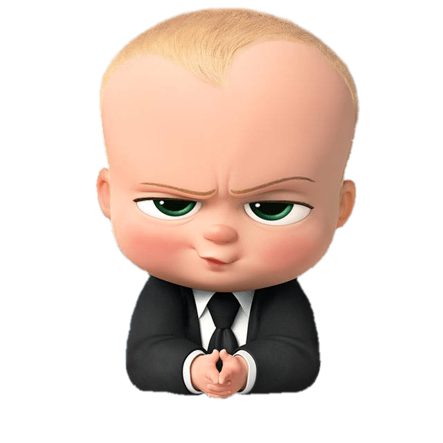 freeuse download Boss clipart baby. Angry look transparent png