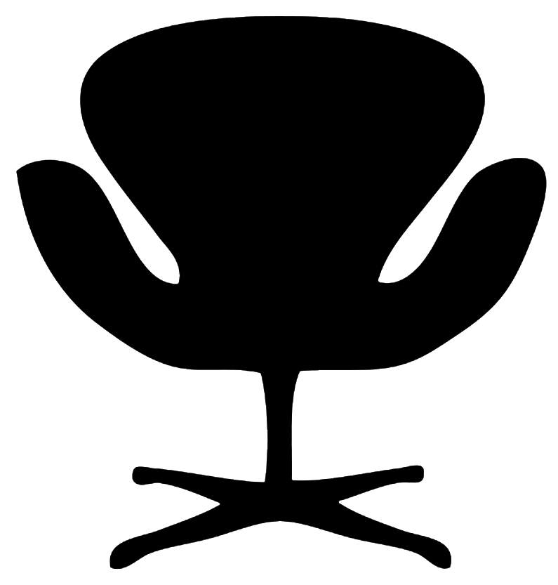 jpg free stock Silhouette deck chair designer. Office building clipart black and white