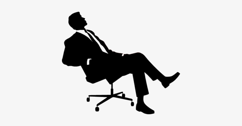 vector transparent download Boss clipart boss chair. Sitting man png free