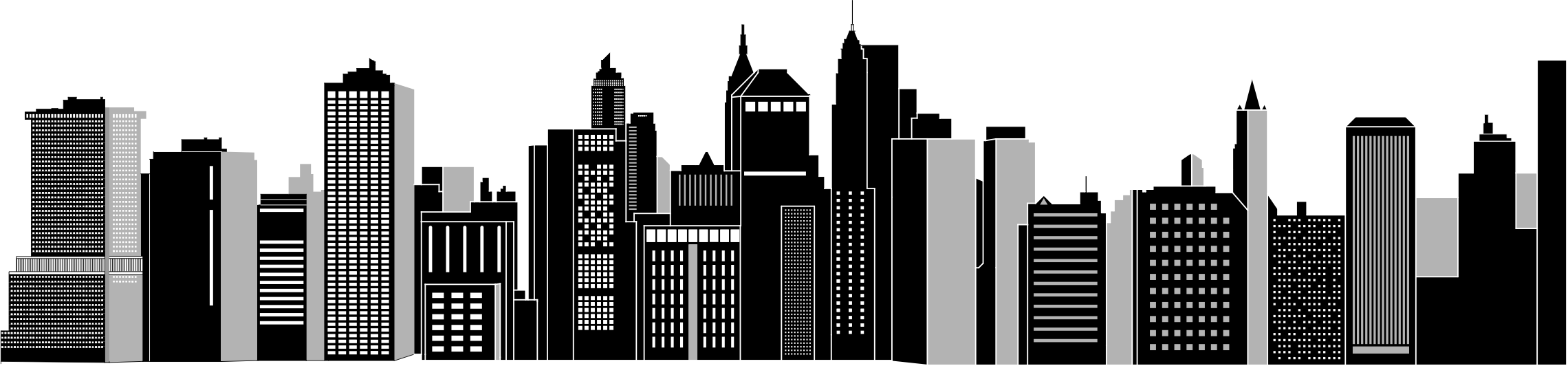 image black and white library Cityscape clipart. Skyline big image png