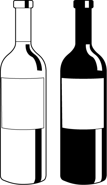 banner transparent download Vector bottle liquor. Clipart