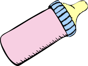vector library Pink and blue clip. Bottle clipart baby bottle