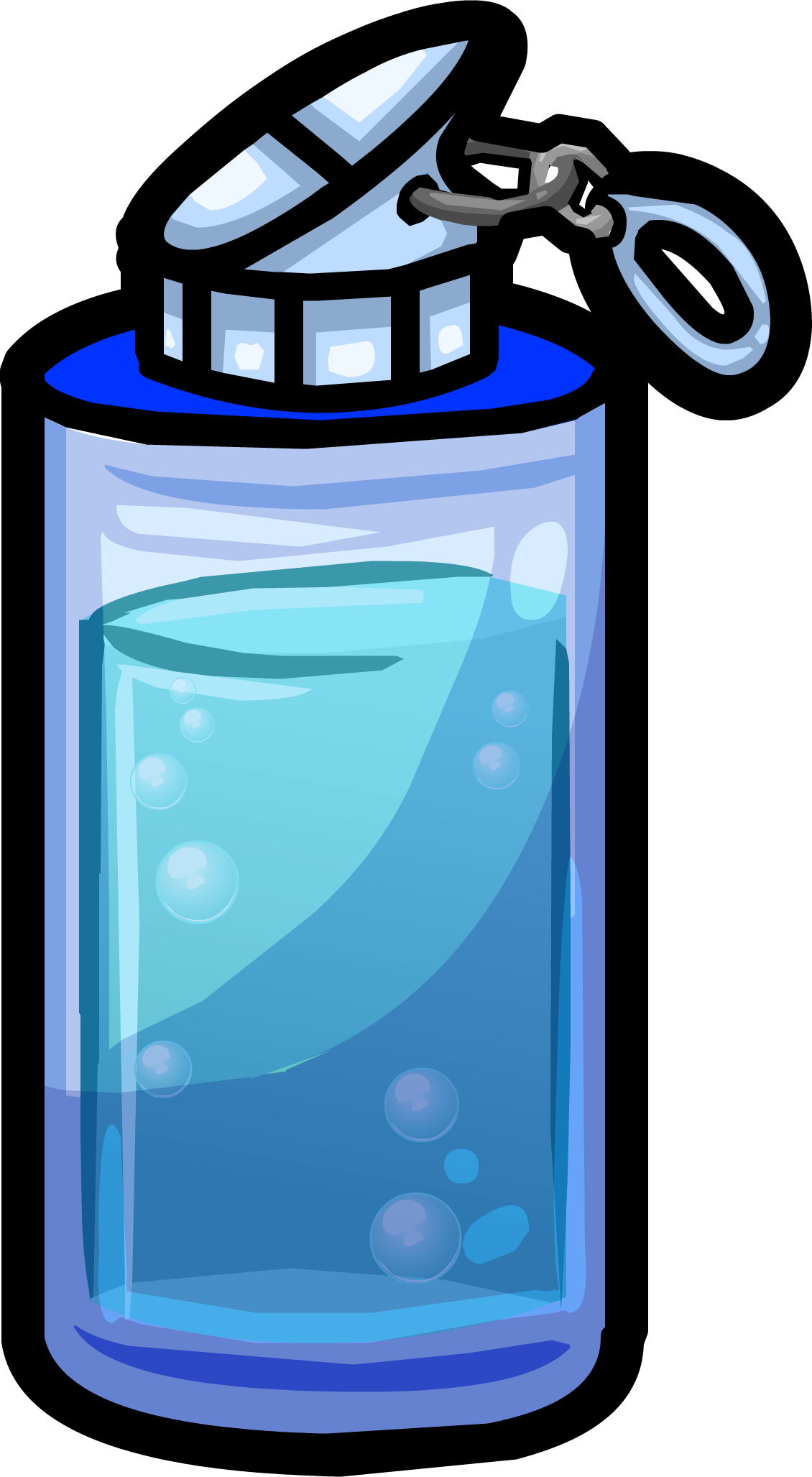 clipart free library Blue water club penguin. Bottle clipart empty jug