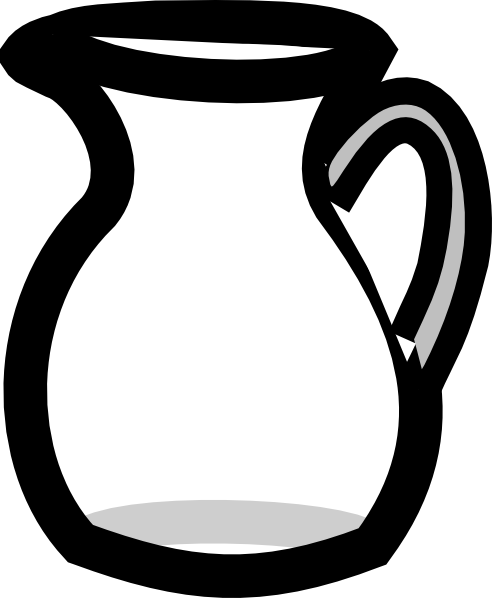 clipart royalty free Bottle clipart empty jug. Pitcher of water clip