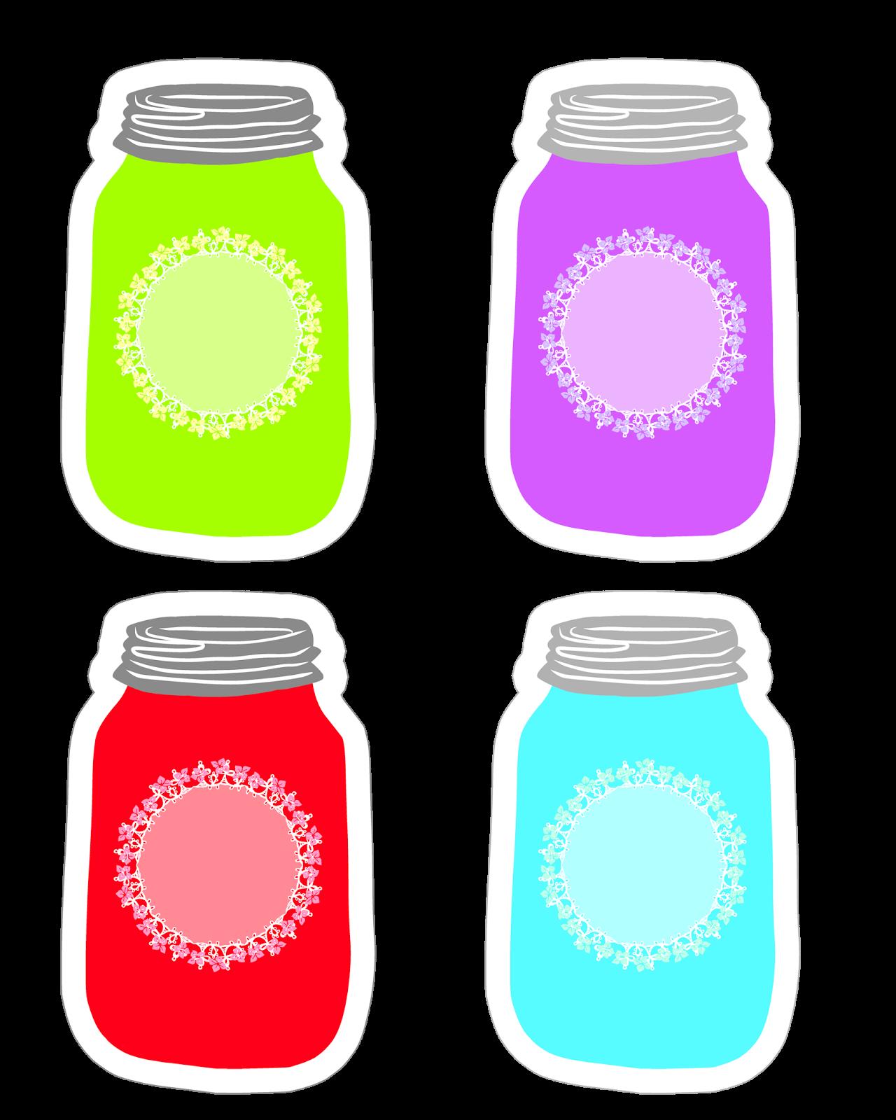 picture transparent download Colorful mason tag collection. Bottle clipart glass jar.