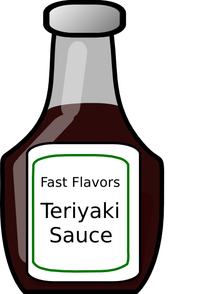 banner freeuse download Teriyaki sauce clip art. Bottle clipart ranch dressing