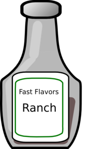 clip freeuse stock Clip art at clker. Bottle clipart ranch dressing