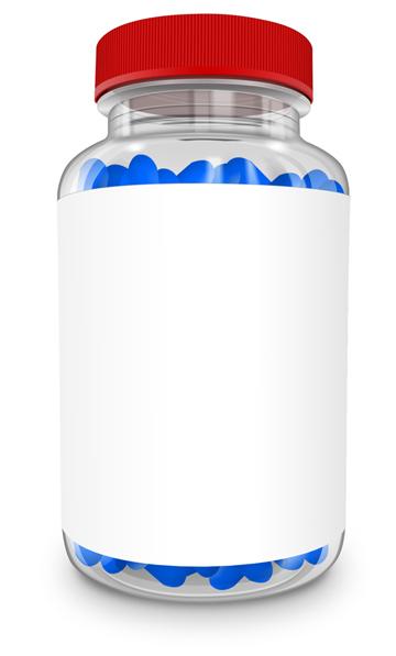 freeuse stock Bottle transparent vitamin. Mockup cover actions premium