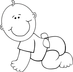 freeuse library Baby Clip Art at Clker
