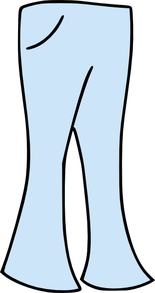 freeuse stock Clothing Pants Bell Bottoms Clip Art at Clker