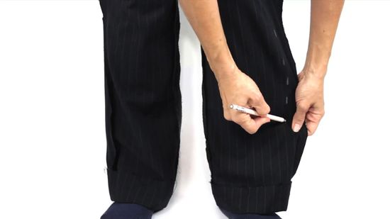 graphic transparent Bottoms clip pant leg. How to taper trouser