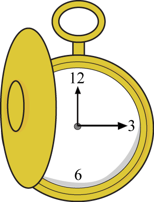 clip art black and white library Pocket Watch Clip Art