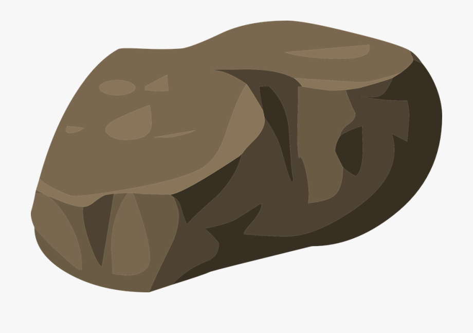 png royalty free stock Beach rock stone cartoon. Boulder clipart