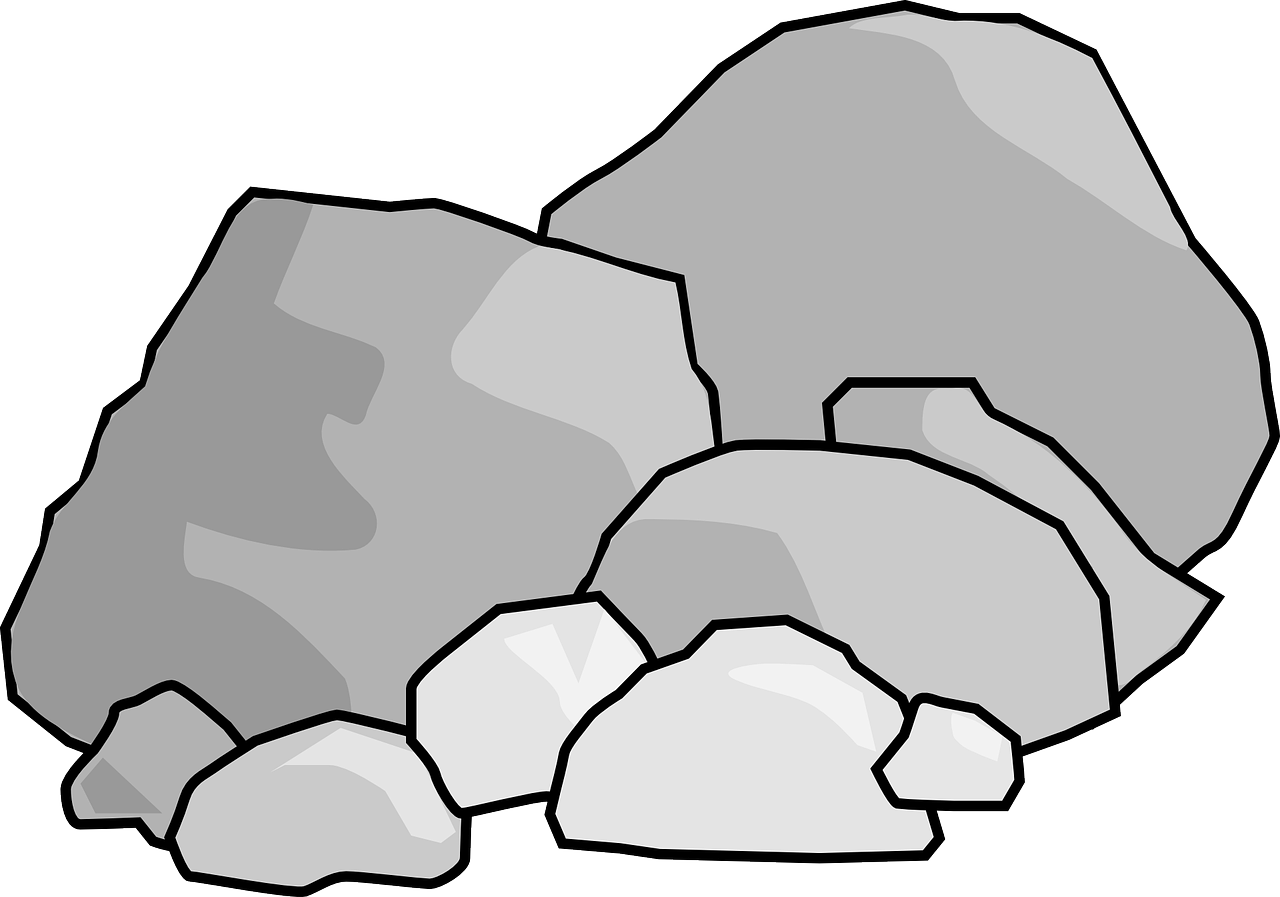 black and white library Black and white collection. Boulder clipart broken rock.