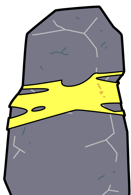 clip library stock Morty rick and wiki. Boulder clipart broken rock.
